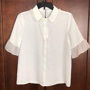 English Factory White Collar Shirt S